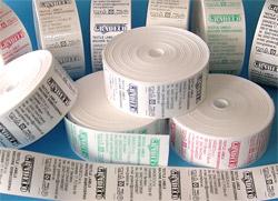 7dfc88d03 Termotransferovou potlačou vyrábame našívacie a samolepiace textilné etikety.  Materiál na etiketu môže byť nylon, satén, alebo samolepiaci nylon vo  všetkých ...